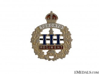 WWI 3rd Infantry Battalion Toronto Regiment Pin