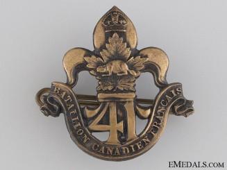 WWI 41st Infantry Battalion Cap Badge CEF