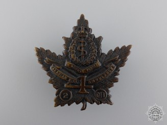 WWI 4th Canadian Field Ambulance Cap Badgeconsign 17