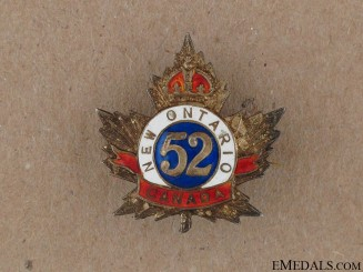 WWI 52nd New Ontario Regiment Sweetheart Pin