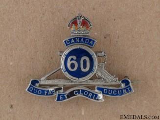 WWI 60th Overseas Field Battery  Sweetheart Pin