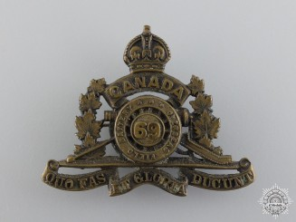 WWI 69th Overseas Field Battery Collar Badge; 2nd Pattern