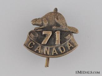 WWI 71st Infantry Battalion Collar Tab CEF
