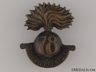 WWI 78th Infantry Battalion Cap Badge CEF