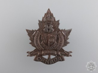 WWI 8th Saskatchewan Overseas Canadian Stationary Hospital Cap Badge