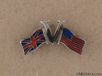 "WWI ""V"" for Victory Allies Pin"