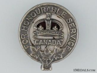 "WWI Army Class ""C"" War Service Badge"