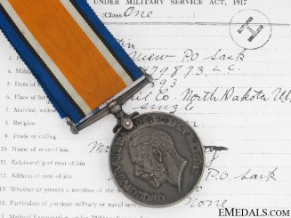 WWI British War Medal - 28th CAN INF