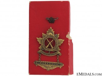 WWI Canadian Marksman Award