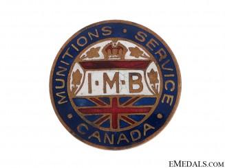 WWI Canadian Munitions Service Lapel Badge