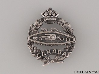 WWI Canadian Tank Corps Silver Pin CEF