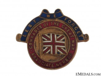 WWI Comrades of the Great War Member Badge