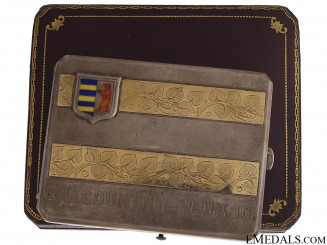 WWI Czech 10th Dragoons Presentation Cigarette Case