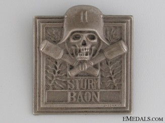 WWI German/Austrian Sturmbattalion 11 Badge