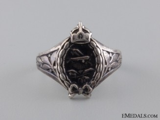 WWI German Aviator's Silver Ring; Hallmarked 800