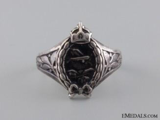 A First War German Aviator's Silver Ring; Hallmarked 800