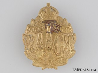 WWI Queen Mary's Army Auxiliary Corps Cap Badge