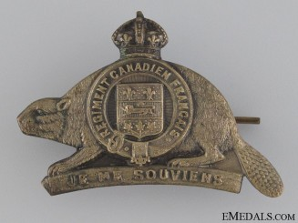 WWI Royal 22nd Regiment Cap Badge