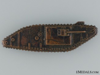 WWI Tank Corps Sleeve Badge