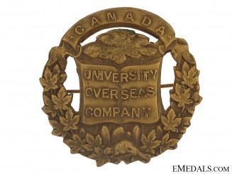 WWI University Overseas Company Cap Badge - CEF