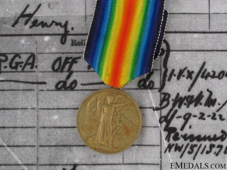 WWI Victory Medal - 2nd Lieutenant A.Burne