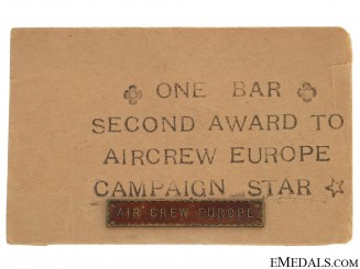 WWII Air Crew Europe Bar
