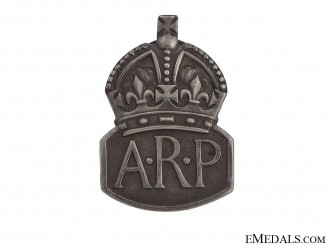 WWII Air Raid Precautionary (ARP) Service Badge