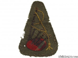 WWII Army Piper Trade Badge
