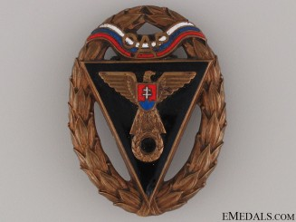 WWII Army Racing Team OAP Badge - Third Class Badge