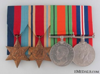 WWII British Veteran's Medal Bar