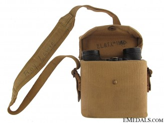 WWII Canadian Field Binoculars - Named