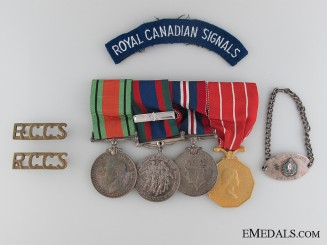 WWII Canadian Forces Group to CAPT. I. Sillars