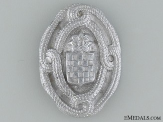WWII Croatian Home Army EM Cap Badge
