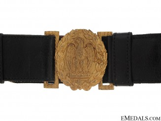 WWII Fascist Army Officer's Belt with Buckle