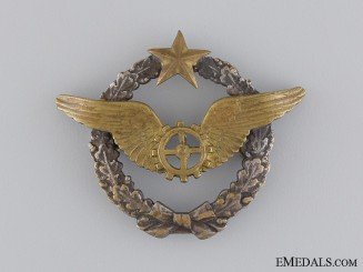 France, Republic. An Air Airship Flight Mechanic's Qualification Badge, c.1935