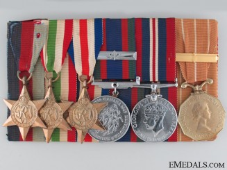WWII Group of Six to Sergeant J.P. Ouellette