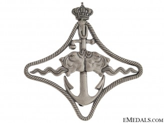WWII Italian Naval Battleship Badge