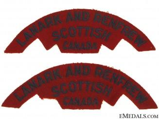 WWII Lanark & Renfrew Scottish Shoulder Flashes