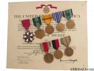 WWII Legion of Merit Group to Major John J. Donovan