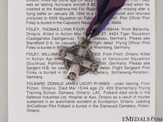 WWII Memorial Cross to Pilot Donald James Folkard