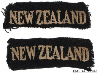 WWII New Zealand Shoulder Flashes
