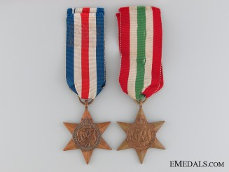 WWII Pair of Campaign Stars