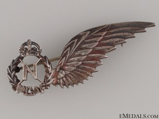 WWII RCAF Navigator Wing Pin