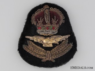 WWII Royal Air Force Officer's Cap Badge