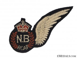 WWII Royal Canadian Air Force (RCAF) Navigator Bombadier's (N.B) Wing