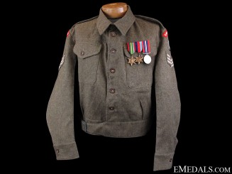 WWII Royal Northumberland Fusiliers Battledress 1945