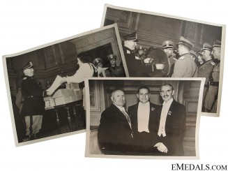 WWII Three Mussolini Press Photos