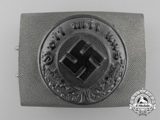 A German Police Enlisted Man's Belt Buckle 1936-1945