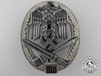 A General Assault Badge; Grade III by Rudolf Karneth