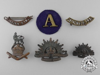 Six First War Australian Badges & Insignia